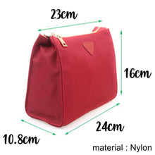Load image into Gallery viewer, Makeup & Toiletry Travel Organiser Pouch / Bag - Dark Red - The Blossom Gift