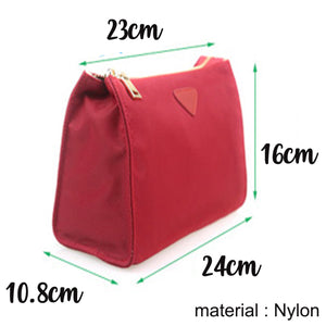 Makeup & Toiletry Travel Organiser Pouch / Bag - Dark Red - The Blossom Gift