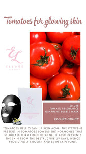 ELLURE TOMATO BUBBLE MASK DEEP CLEANSING FACIAL MASK - The Blossom Gift