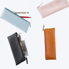 Load image into Gallery viewer, Personalised Pen Pouch / Case - Orange - The Blossom Gift