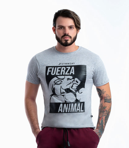 Camiseta Deportiva Para Hombre Gris 0105GC | Colombian Gymwear