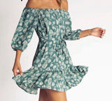 Bohemian lantern sleeve summer dress