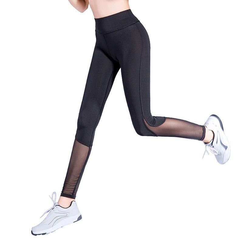 Breathable Mesh Sexy Women Fitness Leggings Pant