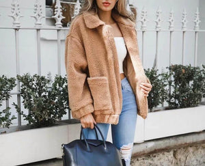 Faux Fur Fluffy Shaggy Winter Coat