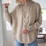 Loose Knitted Pullover Jumper Turtleneck Sweater