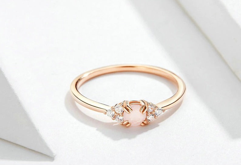 Pink Crystal Finger Ring