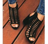 Stripe Hollow Out 10CM High Heels