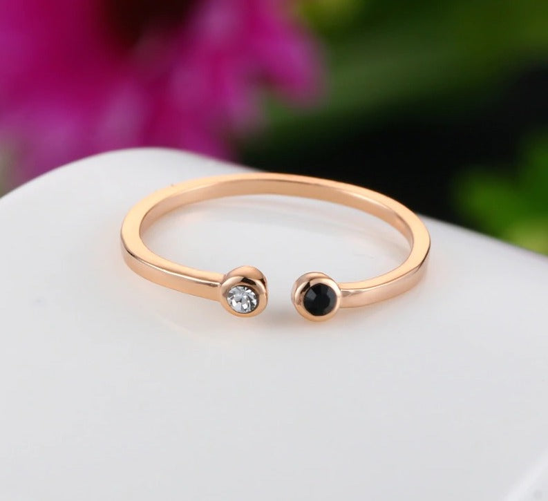 Simple Lovely Style Mini Crystal Ring