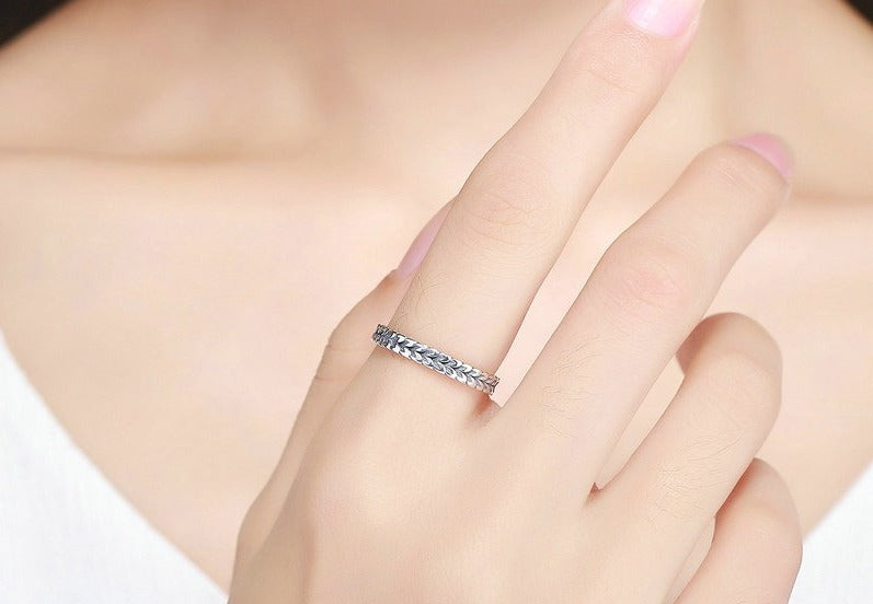 Stackable Wheat Shape Arrow Vintage Finger Ring