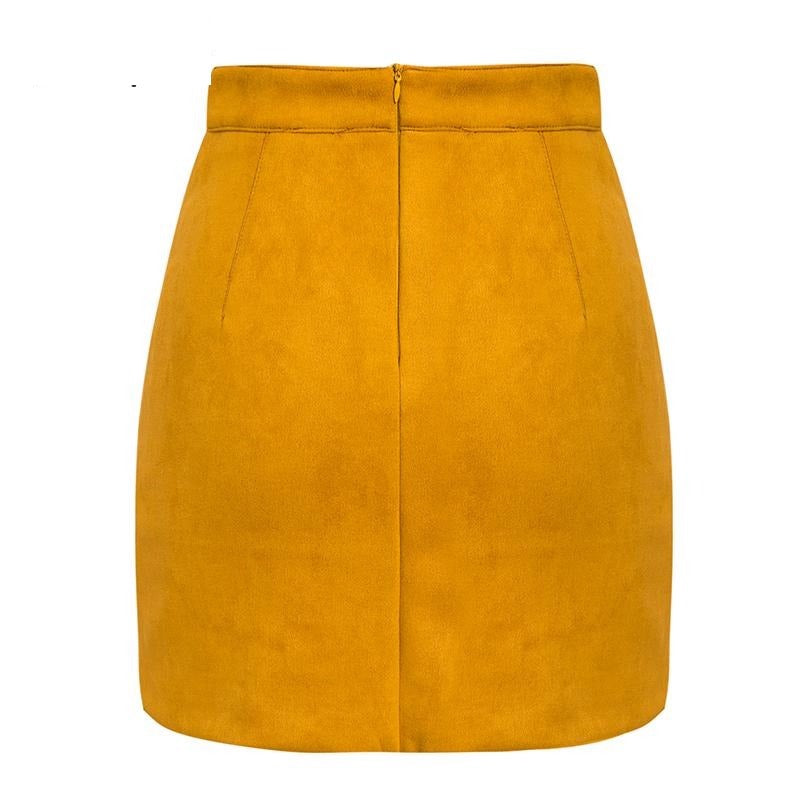 Vintage pockets yellow mini skirts