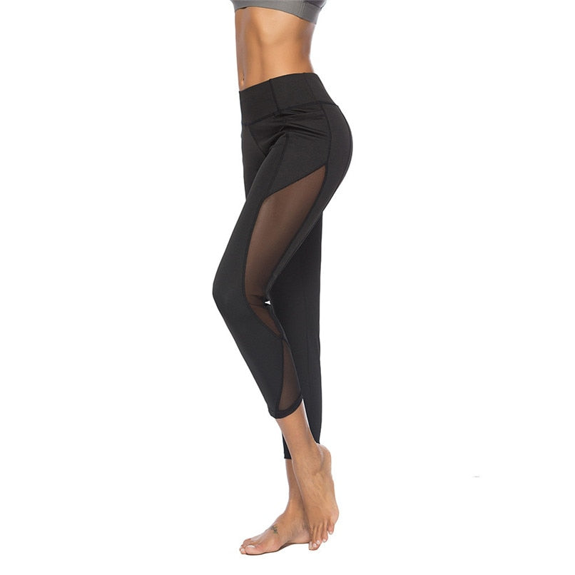 Sexy Mesh Stitching Workout Fitness Yoga Pant