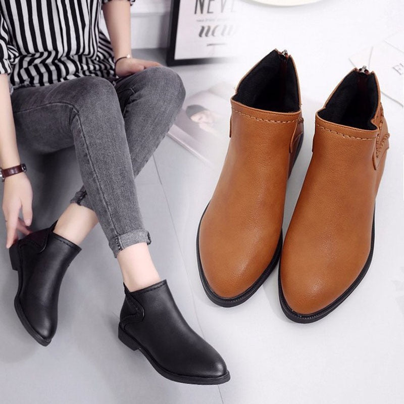 Casual Flat Ankle Comfortable Martin Boots