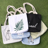 Print Casual Beach Tote Eco Canvas Shoulder Bag