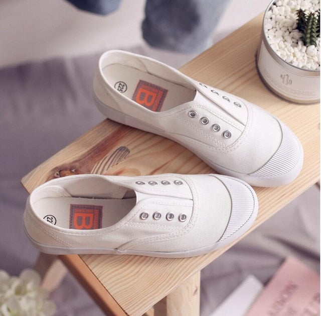 Casual Flats Loafers Canvas Breathable Sneakers