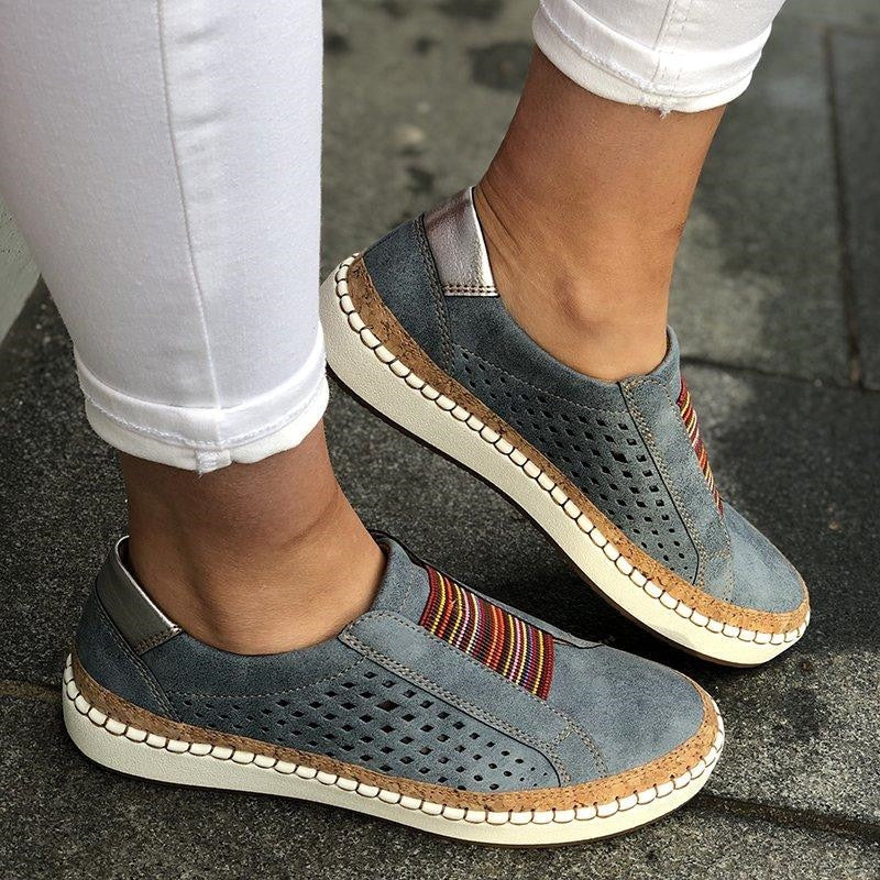 Leather Casual Comfortable Lady Loafers Women's Flats Sneakers