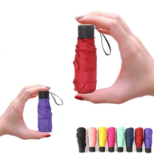 Mini Pocket Umbrella Women UV Small Umbrella