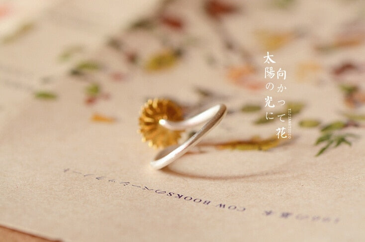 Sunflower Finger Ring