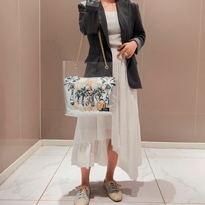Sequins large capacity Cartoon Print Crossbody Waterproof tote bag