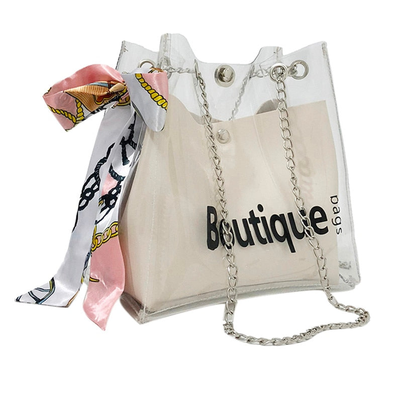 Fashion Transparent Shoulder Messenger