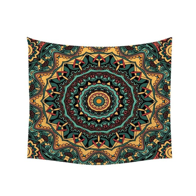 Vintage Abstract Boho Nature Forest Tapestry