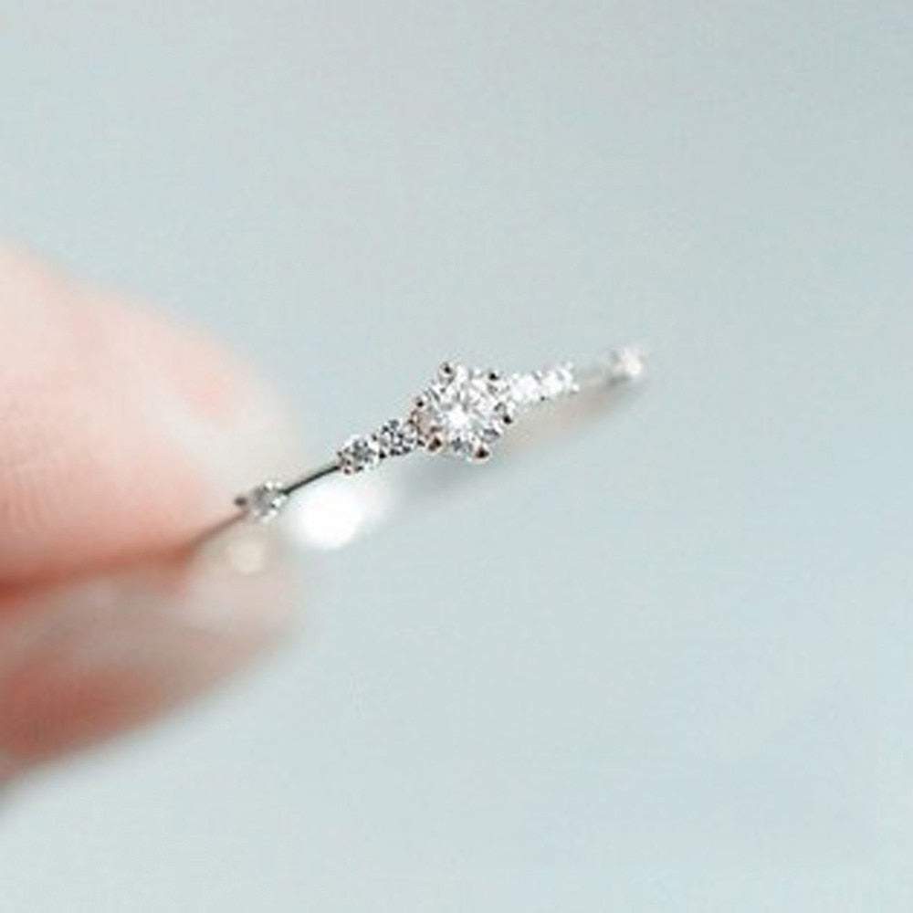 Rhinestone Eternity Thin Ring