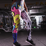 Colorful Print Seamless Sport Fitness Legging