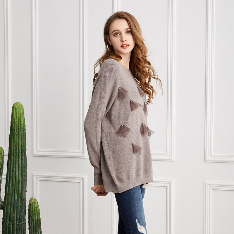 Casual Autumn Winter Pullovers Elasticity Sweater
