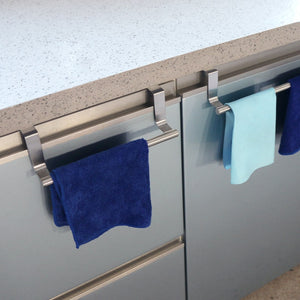 1pc Stainless Steel Bathroom Towel Stand Rack Hanging