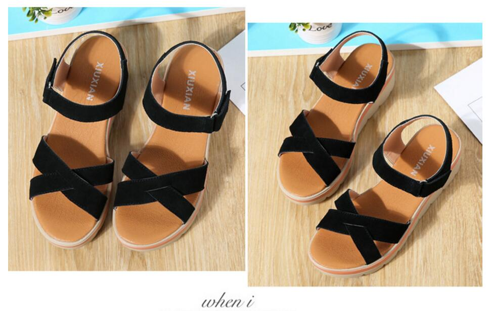 Leather Sandals Fashion Wild Sandals  Shoes Slippers