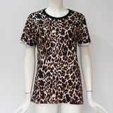 Leopard T Shirt Short Sleeve Casual Tops Tees