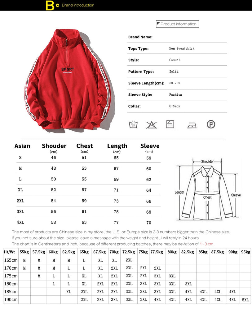 Fashion Long Sleeve Zipper Hip Hop Brand Men Hoodies