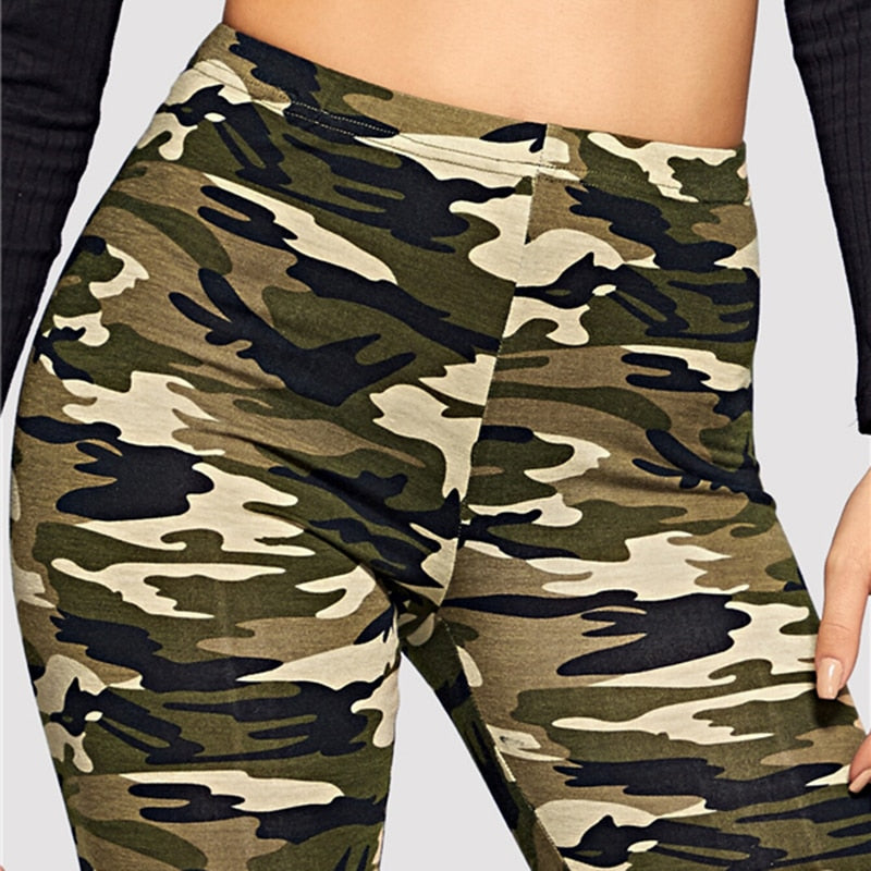 Camo Print Leggings Women Leggings Casual Style