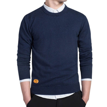 Jumper black Autumn Thin Male Solid Knitting Mens Cotton Sweater
