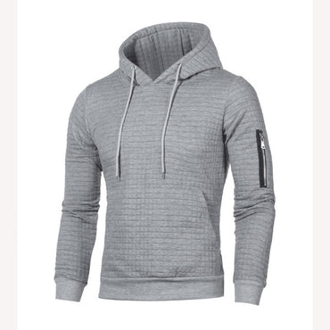 Solid Pullovers Slim Fit Jumpers Men Casual Hooded Sweater