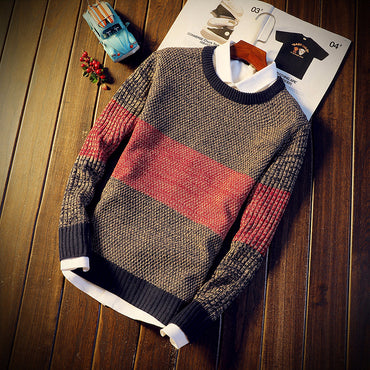 Autumn Winter Mixed Color  Pullovers Jumper Sweater