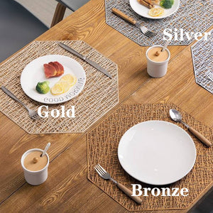 6/4pcs PVC Cutout Hangable Placemats