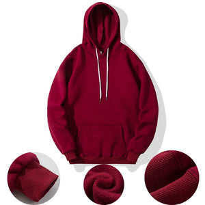 Basic Spring Autumn Solid Fashion Brand Men Hoodies