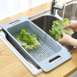 Adjustable Dish Drainer Sink Drain Basket