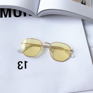 Alloy Small Face Vintage Mirror Reflective Glasses