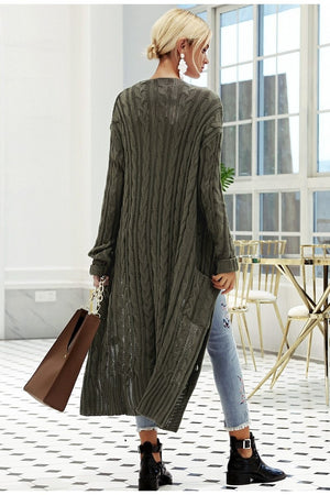V-neck long sleeve sweater Casual streetwear cardigan
