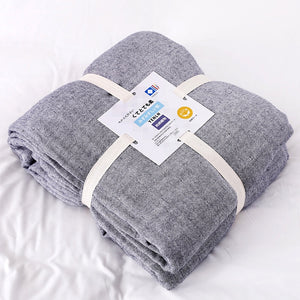 100% Cotton Muslin Blanket Bed Sofa Travel Breathable Simple Style