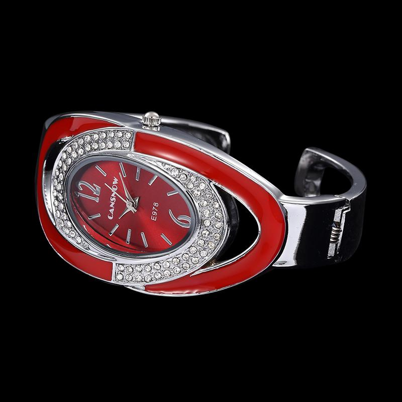 Creative Luxury Rhinestone Bracelet Watch Fashion