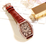 Fashion Unique Square Design Rhinestone Quartz Wristwatch