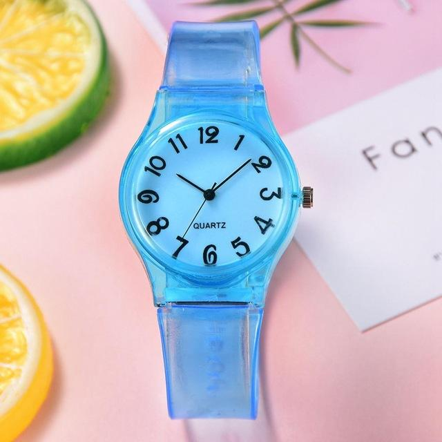 Silicone Watch Women Casual Rubber Jelly Gel Quartz Wrist Watch