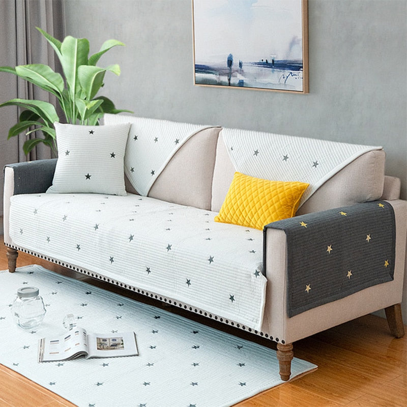 Universal Sofa Towel Cotton Slipcover Sofa Cover Armrests For Living Room