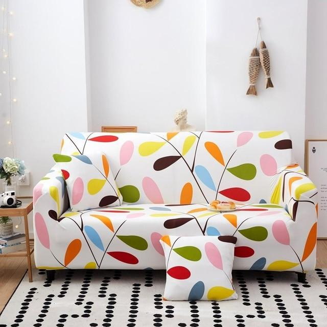 Elastic Spandex Armchair Magic Printed Flower Couch Cover