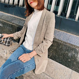 Chic Twill Blazer Gathered Three Quarter Sleeve Pockets Office