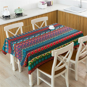 Y3 Bohemian Style Print Decorative Linen Tablecloth
