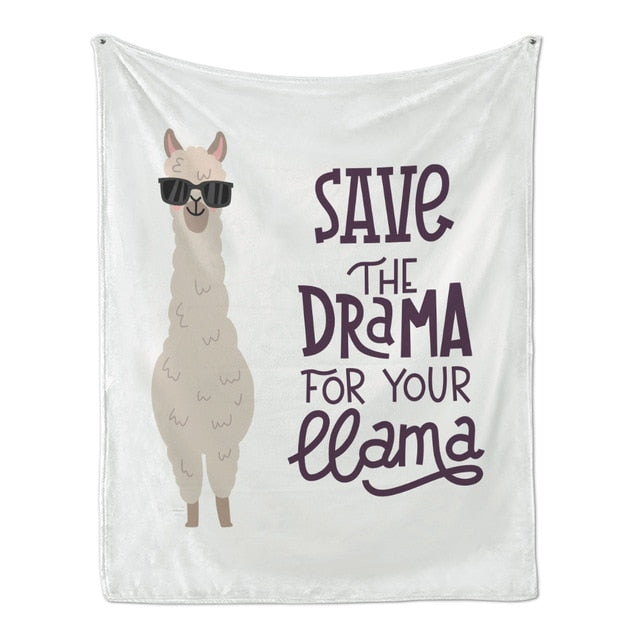 Soft Flannel AlpacaCartoon Blanket