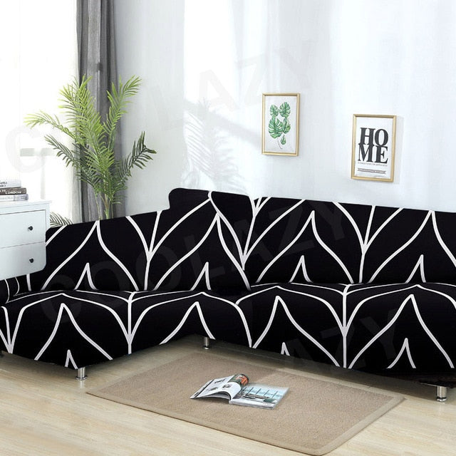 Sofa Cover Set Geometric Couch Elastic Living Room
